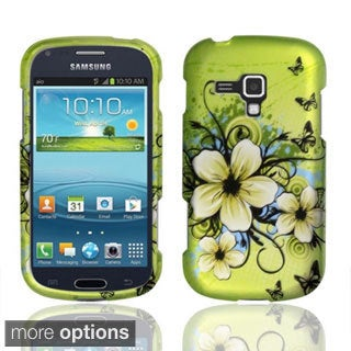 INSTEN Rubberized Pattern Dust Proof Hard Plastic Phone Case Cover for Samsung Galaxy AMP i407