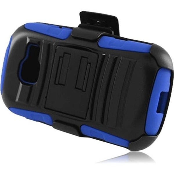 INSTEN Holster Stand PC Soft Silicone Hybrid Phone Case Cover for Samsung Galaxy Centura/ Discover