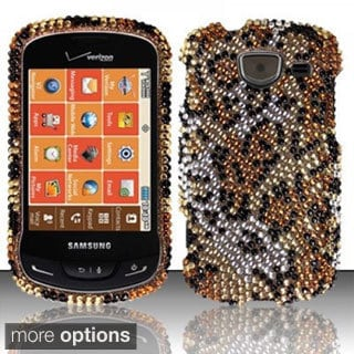 INSTEN Diamond Design Bling Shinny Hard Plastic Phone Case Cover for Samsung Brightside U380