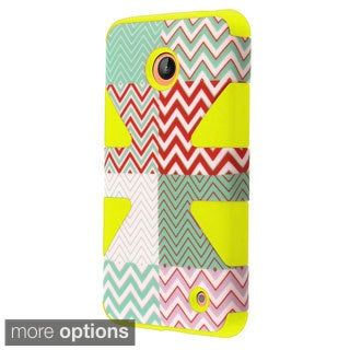 INSTEN Pattern Design Shock Proof PC Soft Silicone Hybrid Phone Case Cover for Nokia Lumia 635