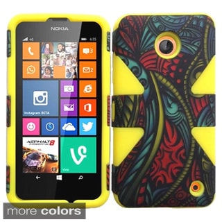 Insten Patterned Shock Proof PC Soft Silicone Hybrid Phone Case for Nokia Lumia 635