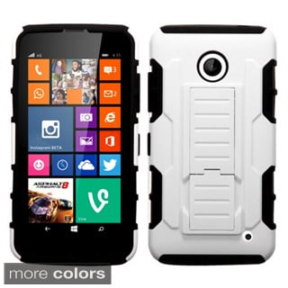 Insten Rugged Shock Proof Stand PC Silicone Hybrid Case for Nokia Lumia 635