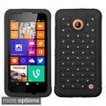 INSTEN Rugged Shock Proof PC Soft Silicone Hybrid Phone Case Cover for Nokia Lumia 630, Lumia 635