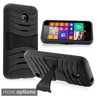 BasAcc Rugged Shock Proof Stand PC Silicone Hybrid Case for Nokia Lumia 635