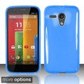 INSTEN Colorful Stiff Dust Proof TPU Rubber Phone Case Cover for Motorola Moto G