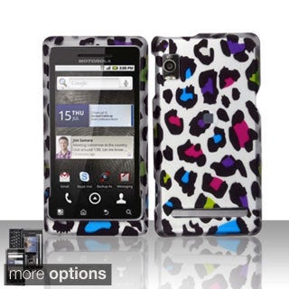 INSTEN Rubberized Pattern Design Dust Proof Hard Plastic Phone Case Cover for Motorola Droid 2 A955