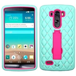 BasAcc Rugged Shock Proof Stand PC Silicone Hybrid Case for LG G3