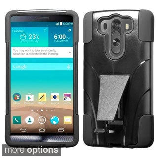 BasAcc Rugged Shock Proof Stand PC Silicone Hybrid Case for LG G3 Mini