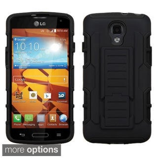 INSTEN Rugged Shock Proof Stand PC Soft Silicone Hybrid Phone Case Cover for LG Volt LS740