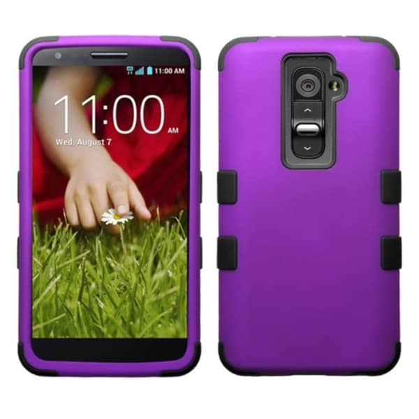INSTEN Colorful Shock Proof PC Soft Silicone Hybrid Phone Case Cover for LG G2 All Carriers