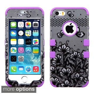 INSTEN Pattern Design Shock Proof PC Soft Silicone Hybrid Phone Case Cover for Apple iPhone 5/ 5S