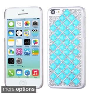 BasAcc Luxury Diamond Design Bling Shinny Hard Case for Apple iPhone 5C