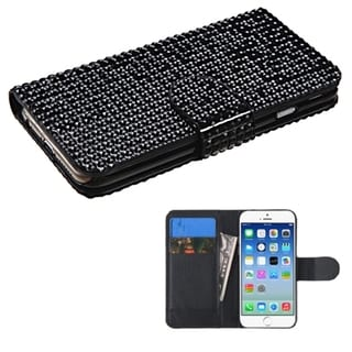 BasAcc Diamond Wallet Card Slots Leather Case for Apple iPhone 6 4.7-inch