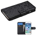 INSTEN Diamond Wallet Card Slots Leather Phone Case Cover for Apple iPhone 6 4.7-inch