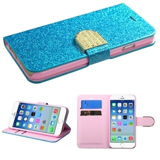 INSTEN Diamante Belt Wallet Stand Leather Phone Case Cover for Apple iPhone 6 4.7-inch