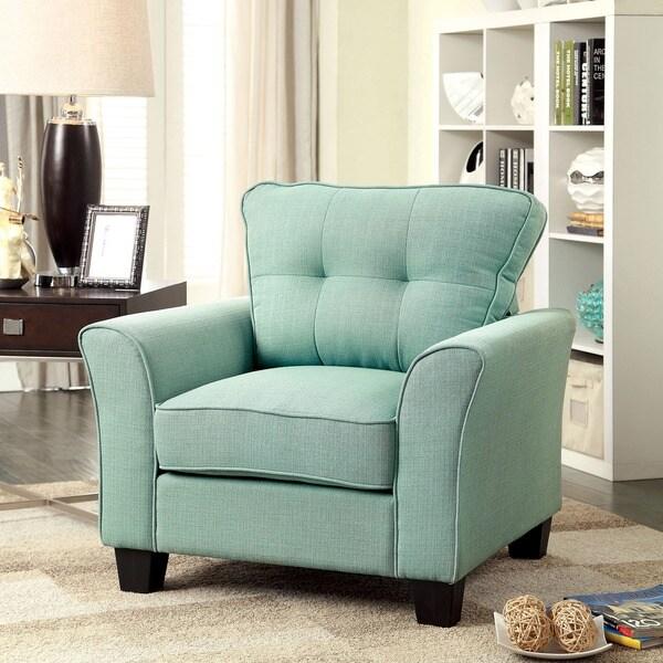 Furniture of America Primavera Modern Linen Chair