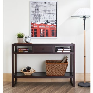 Furniture of America Neviah Open Modern Espresso Entryway Table