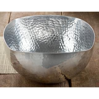14-inch Square Hammered Aluminum Bowl
