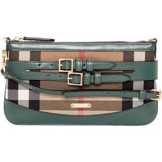 Burberry 'Peyton' Opal Green Bridled House Check Crossbody