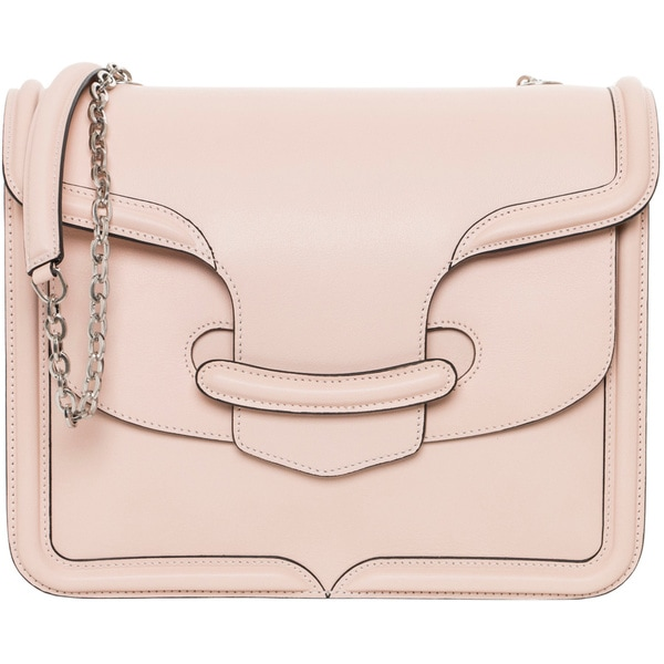 Alexander McQueen 'Heroine' Blush Leather Chain Shoulder Bag