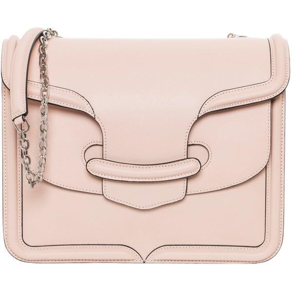 Alexander McQueen 'Heroine' Blush Leather Chain Shoulder Bag