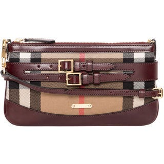 Burberry Peyton Bridled Leather House Check Crossbody