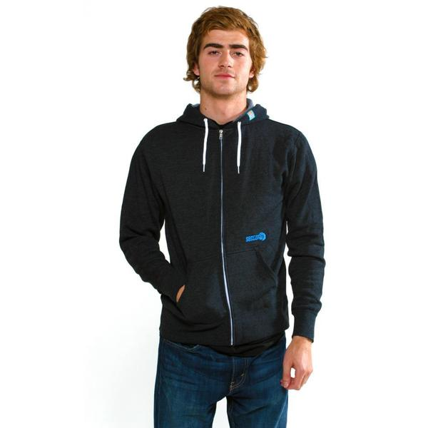 Sector 9 Men's 'Way Back Zip' Charcoal Sweatshirt