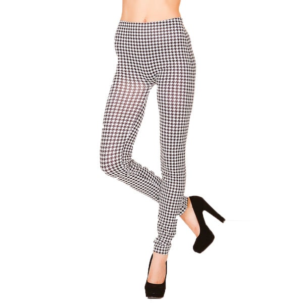 Just One Juniors Houndstooth Seamless Leggings
