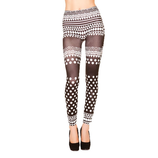 Just One Juniors 'Name that Pattern' Seamless Printed Leggings