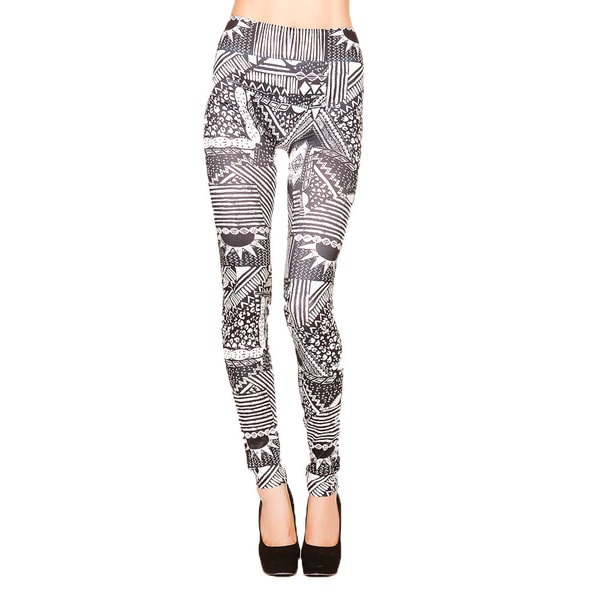 Just One Juniors Ethnic Tribal Printed Seamless Leggings