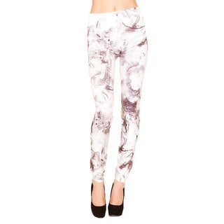 Just One Juniors Marble Print Seamless Leggings