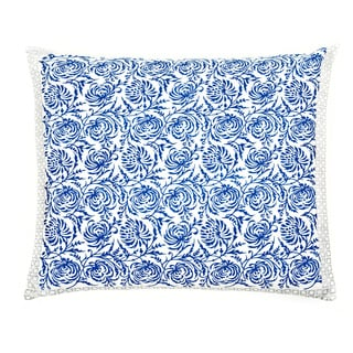 Trendsage Double-sided Vine Blue Decorative Accent Pillow