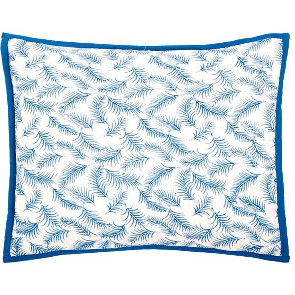 Trendsage Fern Blue Decorative Accent Pillow