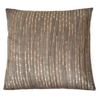 Trendsage Sequins Charcoal Decorative Accent Pillow