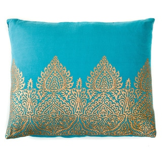 Trendsage Mughal Teal Decorative Accent Pillow