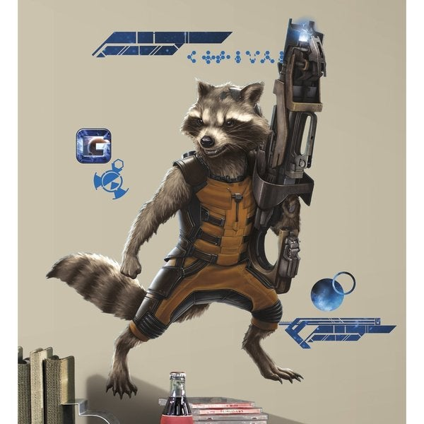 Marvel Guardians of the Galaxy Rocket Raccoon Peel and Stick Giant Wall Decals