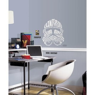 Star Wars Typographic Clone Trooper Peel and Stick Giant Wall Decals