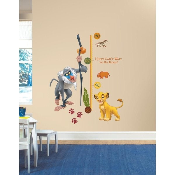 Disney The Lion King Rafiki Peel and Stick Metric Growth Chart Wall Decals
