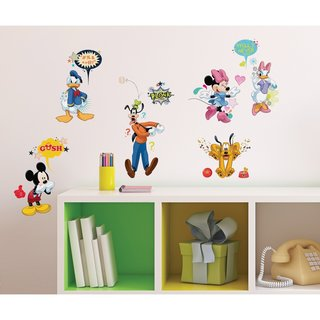 Disney Mickey & Friends Animated Fun Peel and Stick Wall Decals