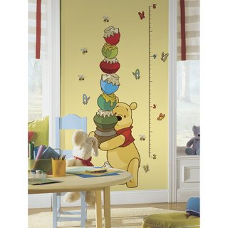 Winnie the Pooh - Pooh & Friends Peel and Stick Metric Growth Chart Wall Decals