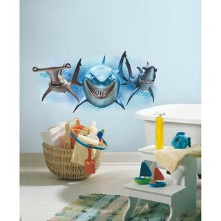 Disney Finding Nemo Sharks Peel and Stick Giant Wall Decals