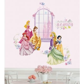 Disney Princess Collage Peel & Stick Wall Decals with Personalization