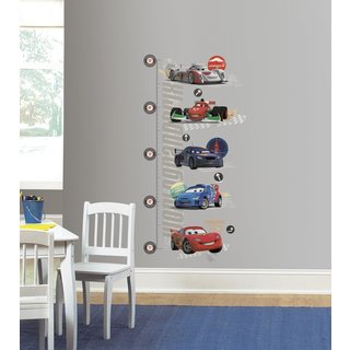 Disney Cars 2 Peel and Stick Metric Growth Chart Wall Decals