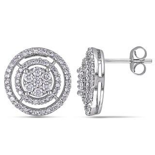 Miadora 10k White Gold 1ct TDW Diamond Stud Earrings (H-I, I2-I3)