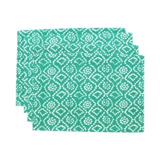 Teal Green Bandhini Placemats (India)