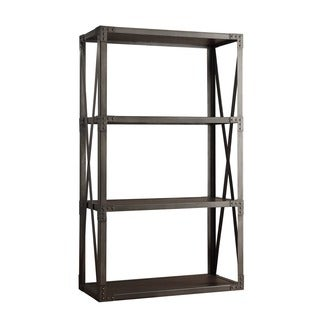 INSPIRE Q Caicos Vintage Industrial Modern Bracket Metal 40-inch Bookcase