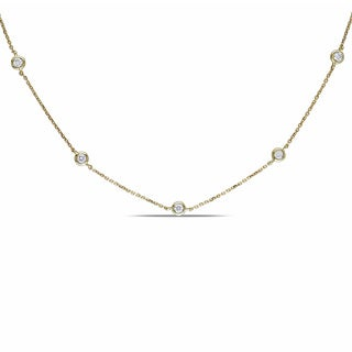 Miadora 14k Yellow Gold 3/4ct TDW Diamond By-the-Yard Necklace (G-H, SI)
