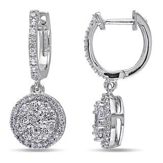 Miadora Signature Collection 14k White Gold 1ct TDW Diamond endless Earrings (G-H, SI1-SI2)