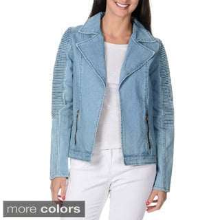 Endless Rose Women's Modern Open Front Denim Jacket