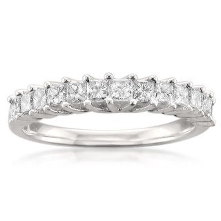 14k White Gold 3/4ct TDW Princess-cut Diamond Wedding Band (H-I, I1-I2)